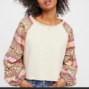 Free People cropped sweatshirt